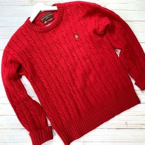 Vintage Ralph Lauren cable knit wool sweater
